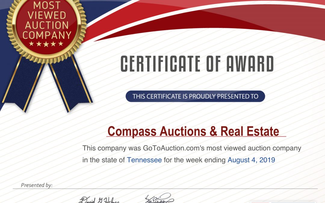 "Auction News 8.5.19: ""MOST VIEWED"" Auction Marketplace!"