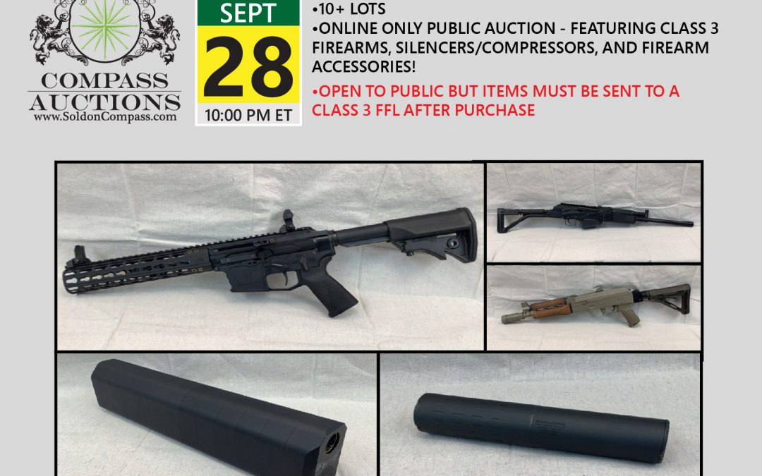 Class 3 Firearms and Accessories Auction