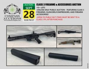 September Class 3 Firearms auction