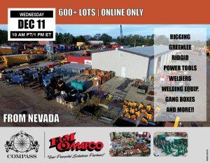 December public auction online FM Mafco job completion surplus Nevada