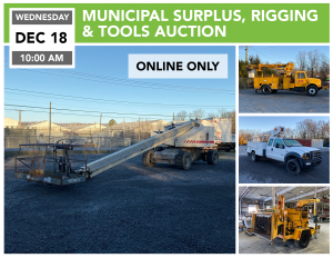 Municipal and Industrial Surplus, Rigging and Tools