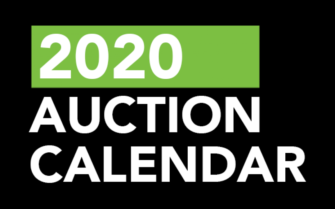 2020 Auction Calendar