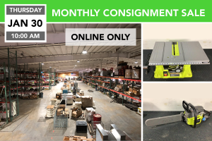 Jan. 30, 2020 Monthly Consignment Sale
