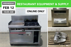 FEB. 12th 2020 Restaurant Equipment Auction