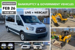 Bankruptcy & Government Vehicles, Surplus and More Feb. 26, 2020