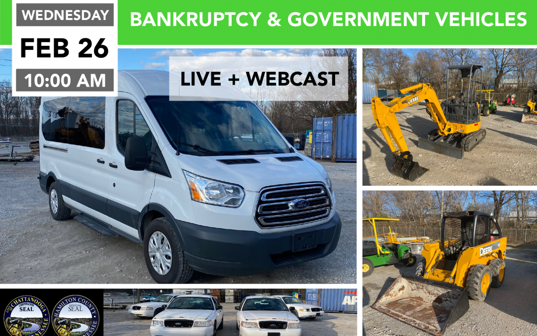 Bankruptcy and Government Vehicles, Surplus Goods – Day 1