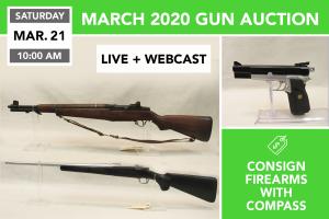 March 2020 Gun Auction March 21, 2020