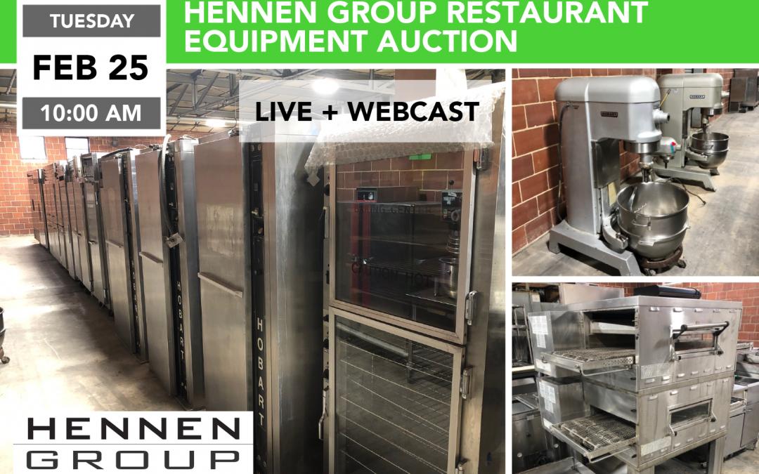 Hennen Group Restaurant Equipment Auction