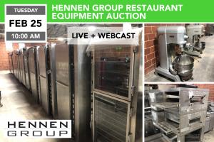 Hennens Restaurant Equipment Surplus Auction_FEB.25.2020