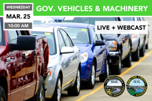 Government Vehicles, Machinery, & Surplus Auction 3/25/2020