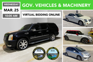 Government Vehicles & Machinery Auction March 25, 2020