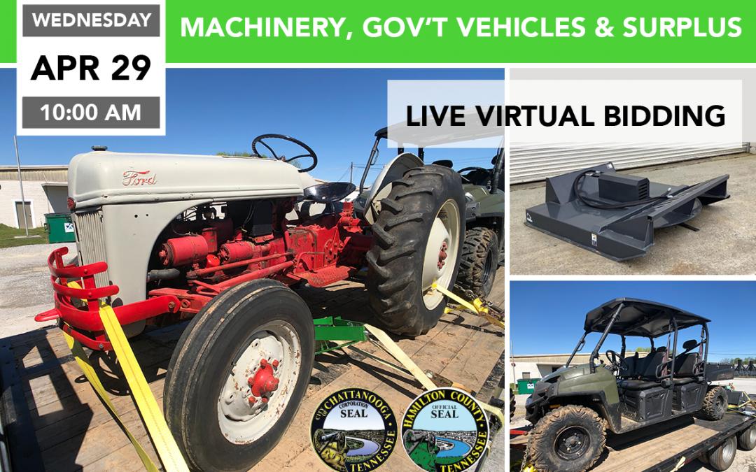 Machinery, Government Vehicles, & Surplus