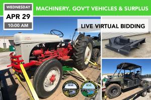 MACHINERY, GOVERNMENT VEHICLES, & SURPLUS 4-29-2020