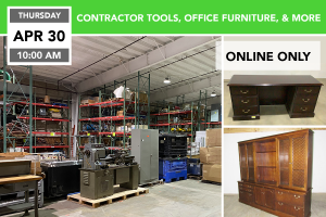 Contractor Tools, Office Furniture, & More Auction 4-30-2020
