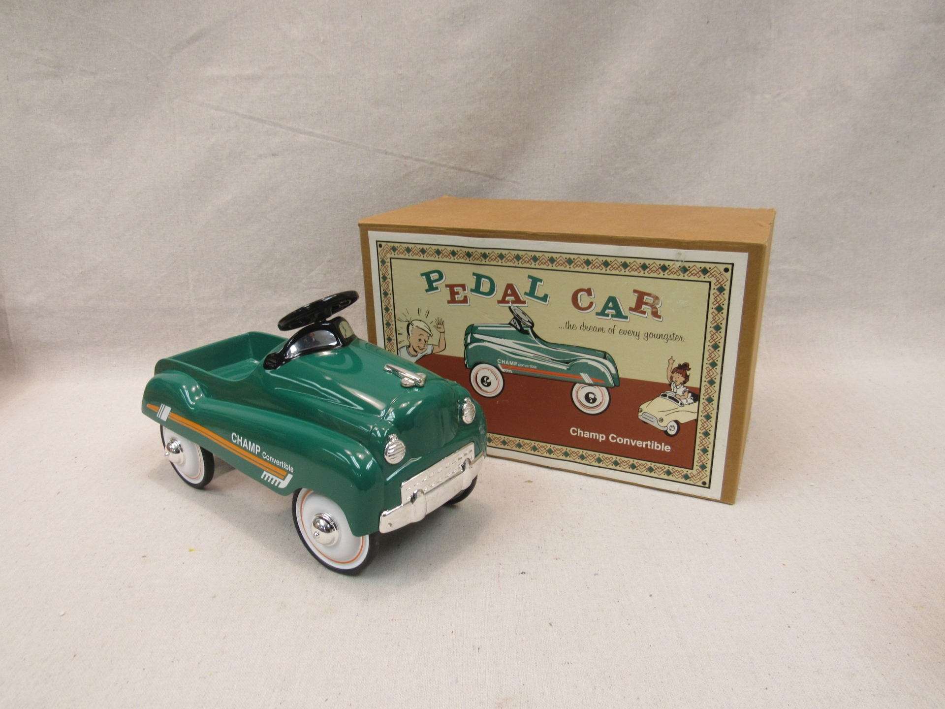 *NEW* Champ Convertible Die Cast Metal Pedal Car
