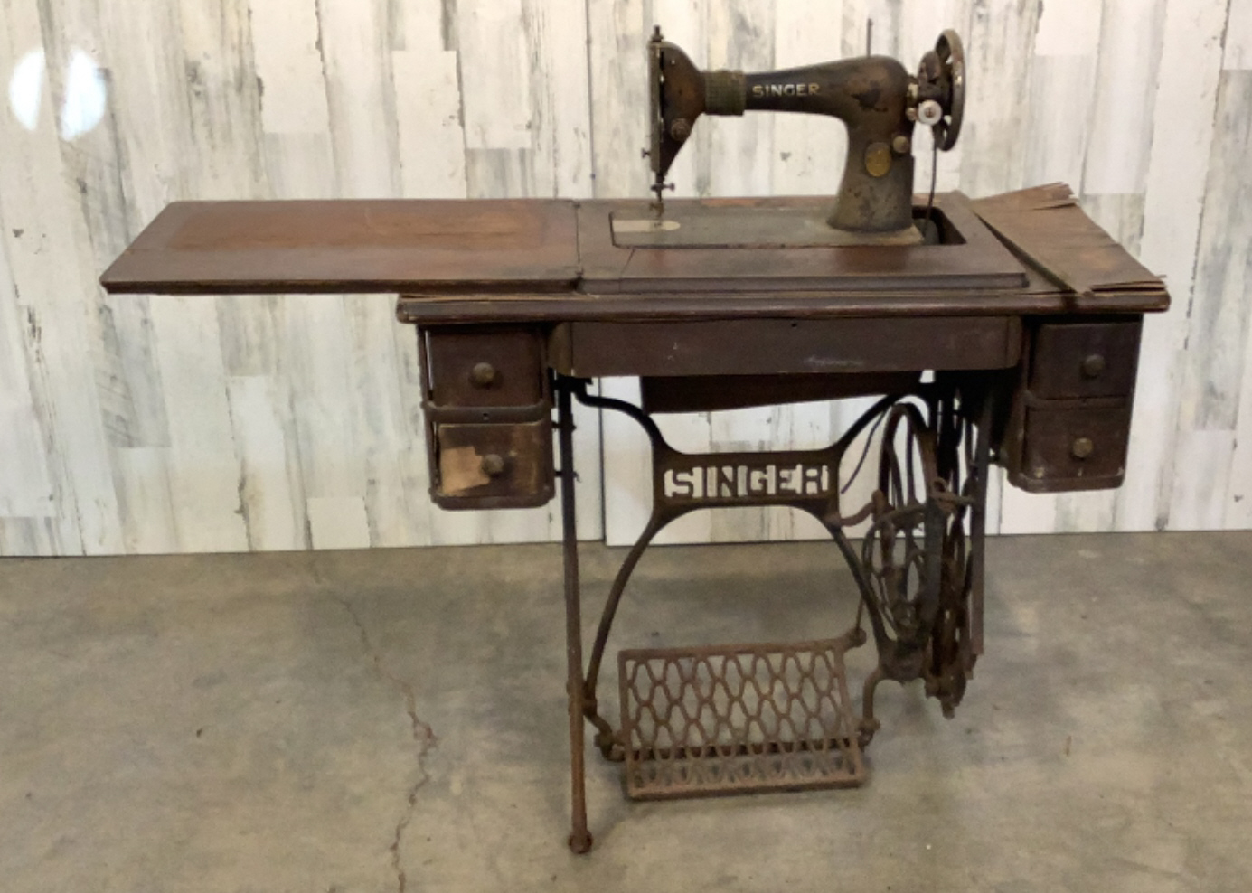Antique Wooden Sewing Machine