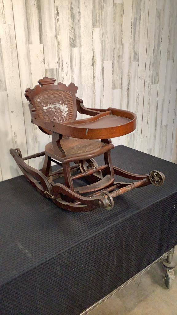 Antique Infant Rocking Chair