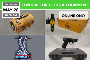 Contractor Tools & Equipment Auction 5-28-2020