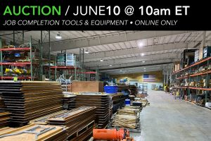 June 2020 auction Job Completion tools and equipment Compass Auctions