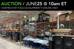 June 2020 contractor grade equipment tools public auction
