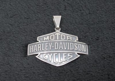 133-sterling silver harley pendant