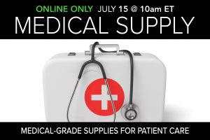 Medical grade supply public auction July 2020