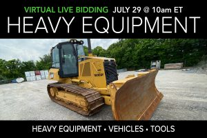 July 2020 heavy equipment vehicles surplus tools auction