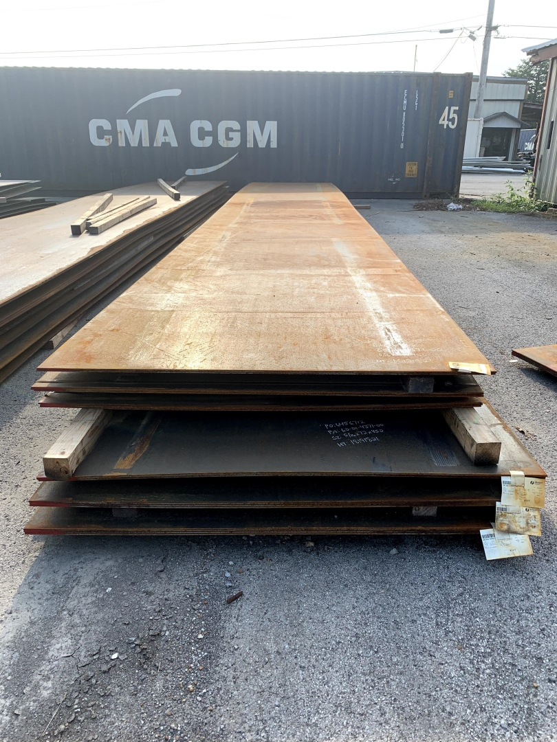 "Rolled Plate 5/16"" x 72"" x 450"" w/Certs. Paperwork"