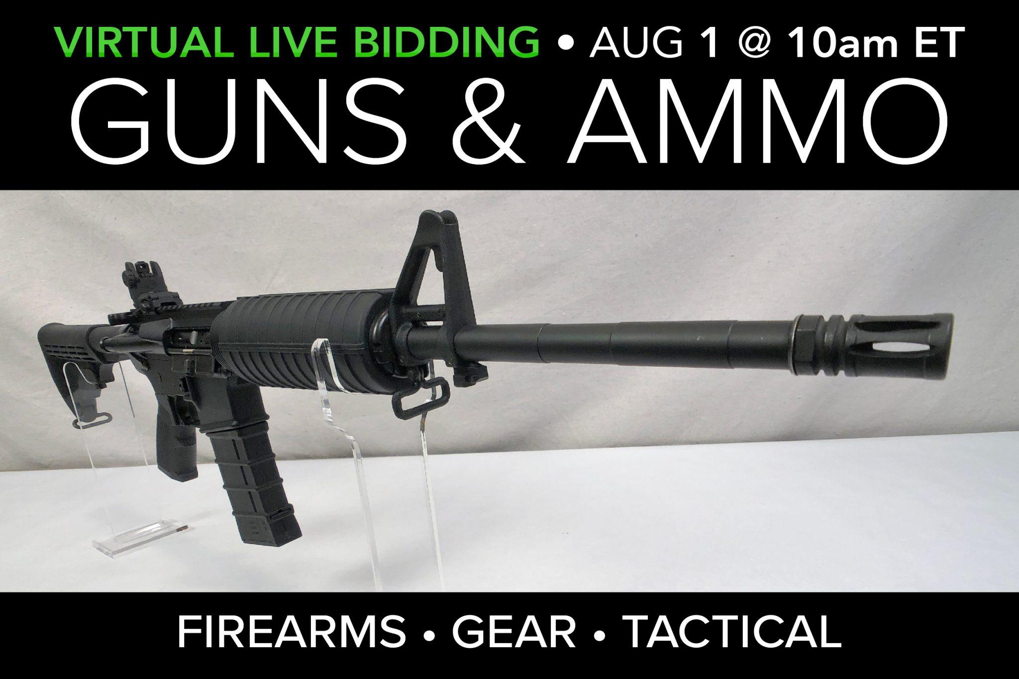 August 2020 Guns Ammo Gear public auction