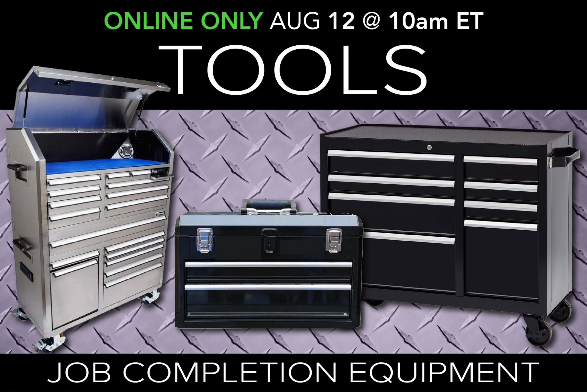 August 2020 Job completion tools equipment auction