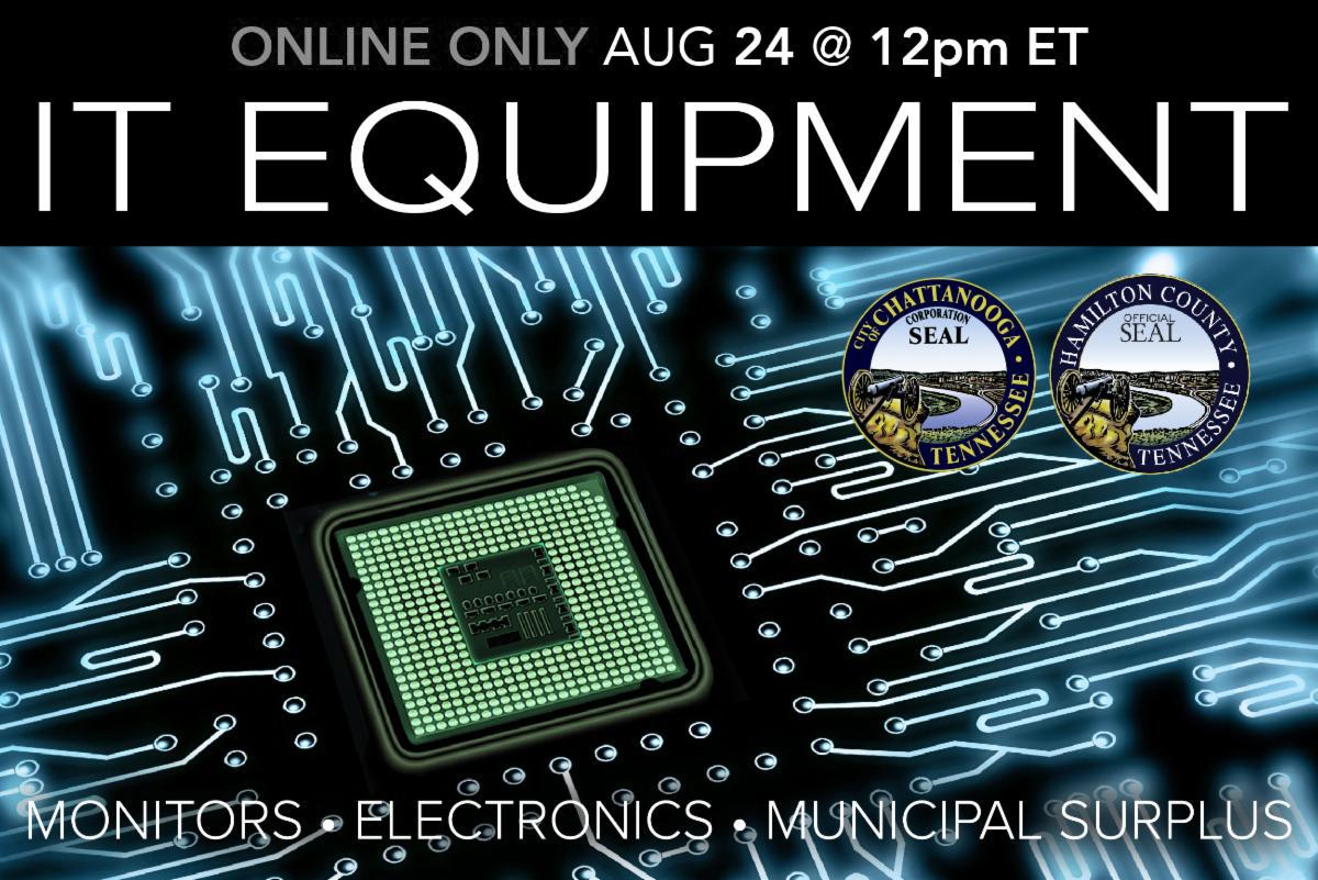 August 2020 IT Equipment Municipal Surplus Computers Monitors Auction