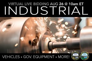 August 2020 Industrial Machine Vehicle Equipment Tools Auction