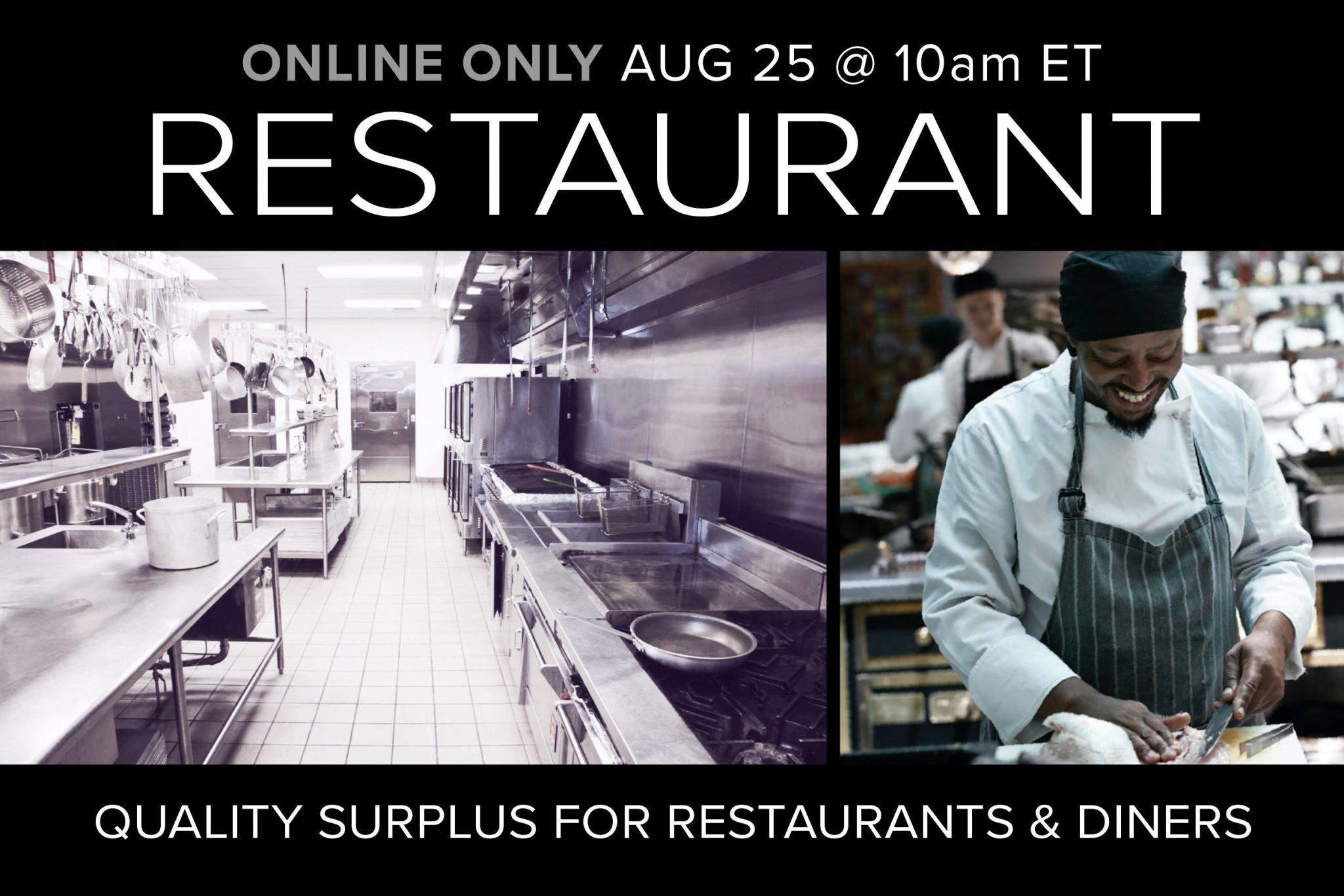 August 2020 Restaurant Equipment Kitchen Supply Auction