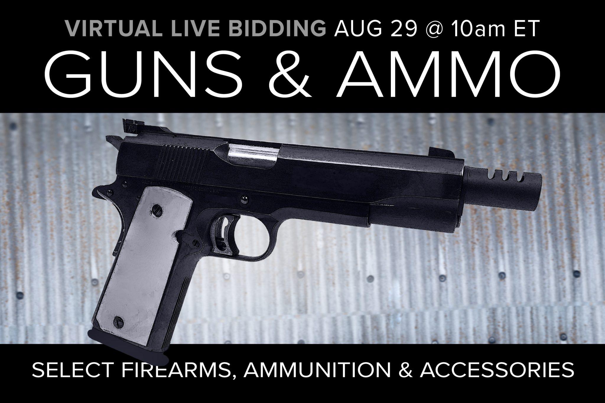 August 2020 Guns ammo gear auction tactical defense