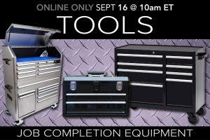 September 2020 Public Auction Job Completion Tools Equipment Auciton