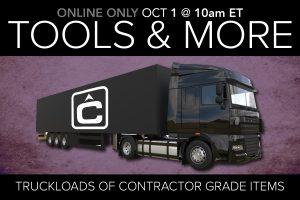September 2020 contractor grade equipment tools public auction