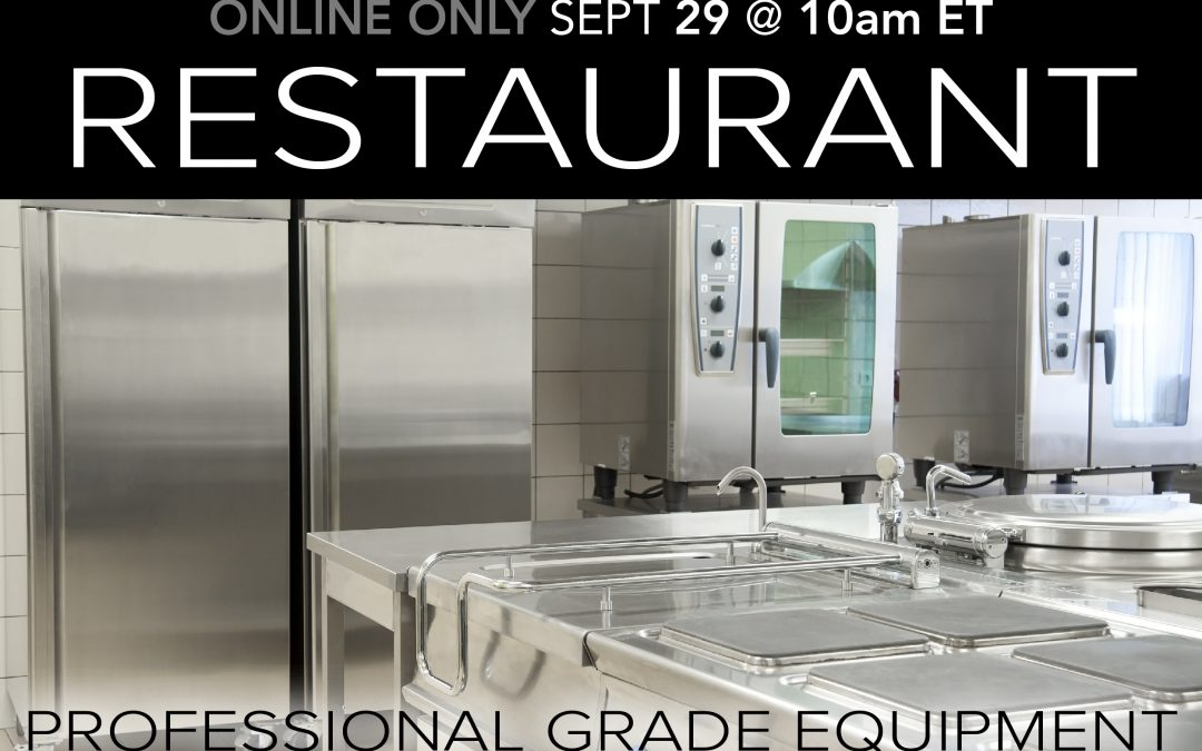 Restaurant Equipment & Supply Auction