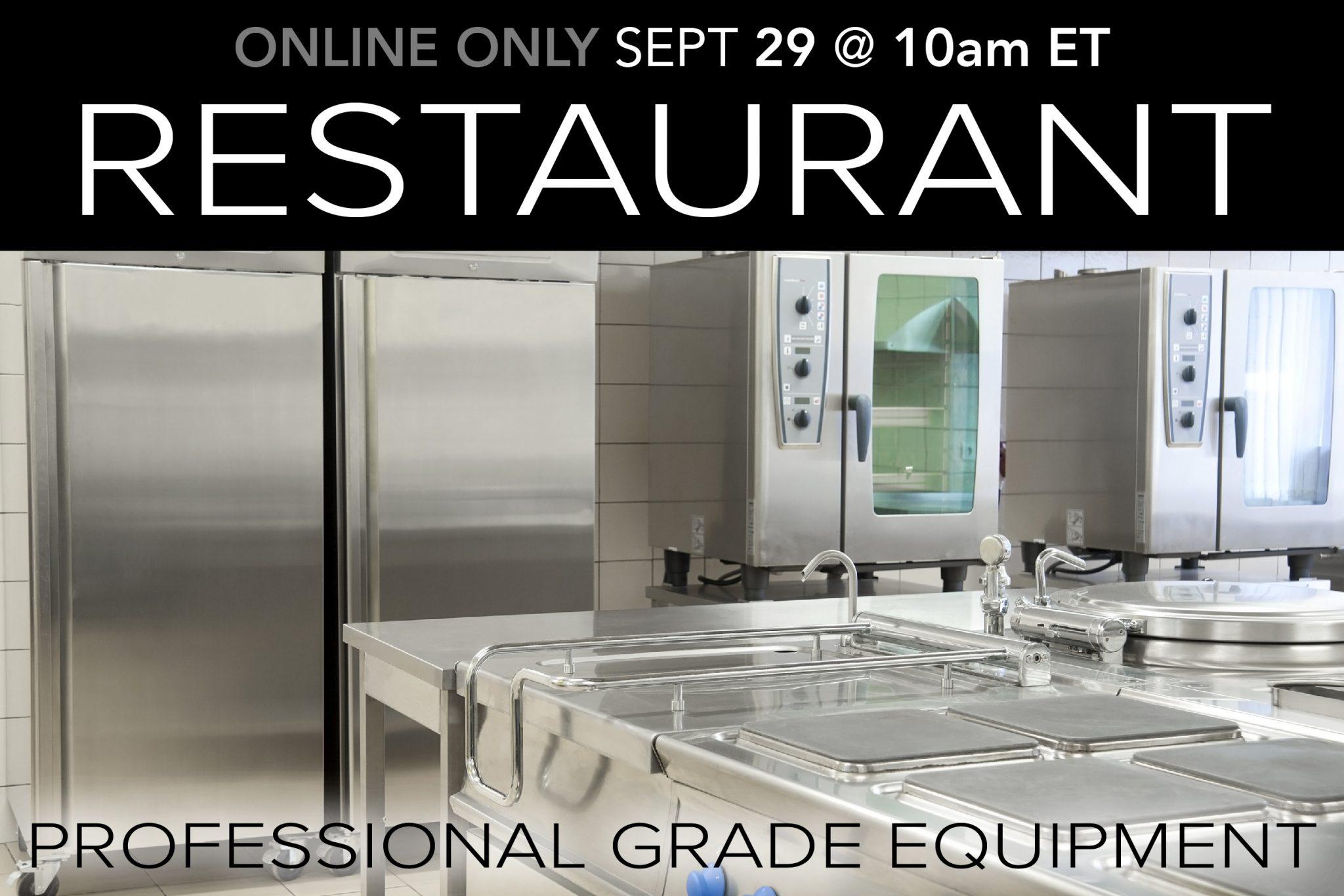 September 2020 Restaurant Equipment Supply Auction Compass