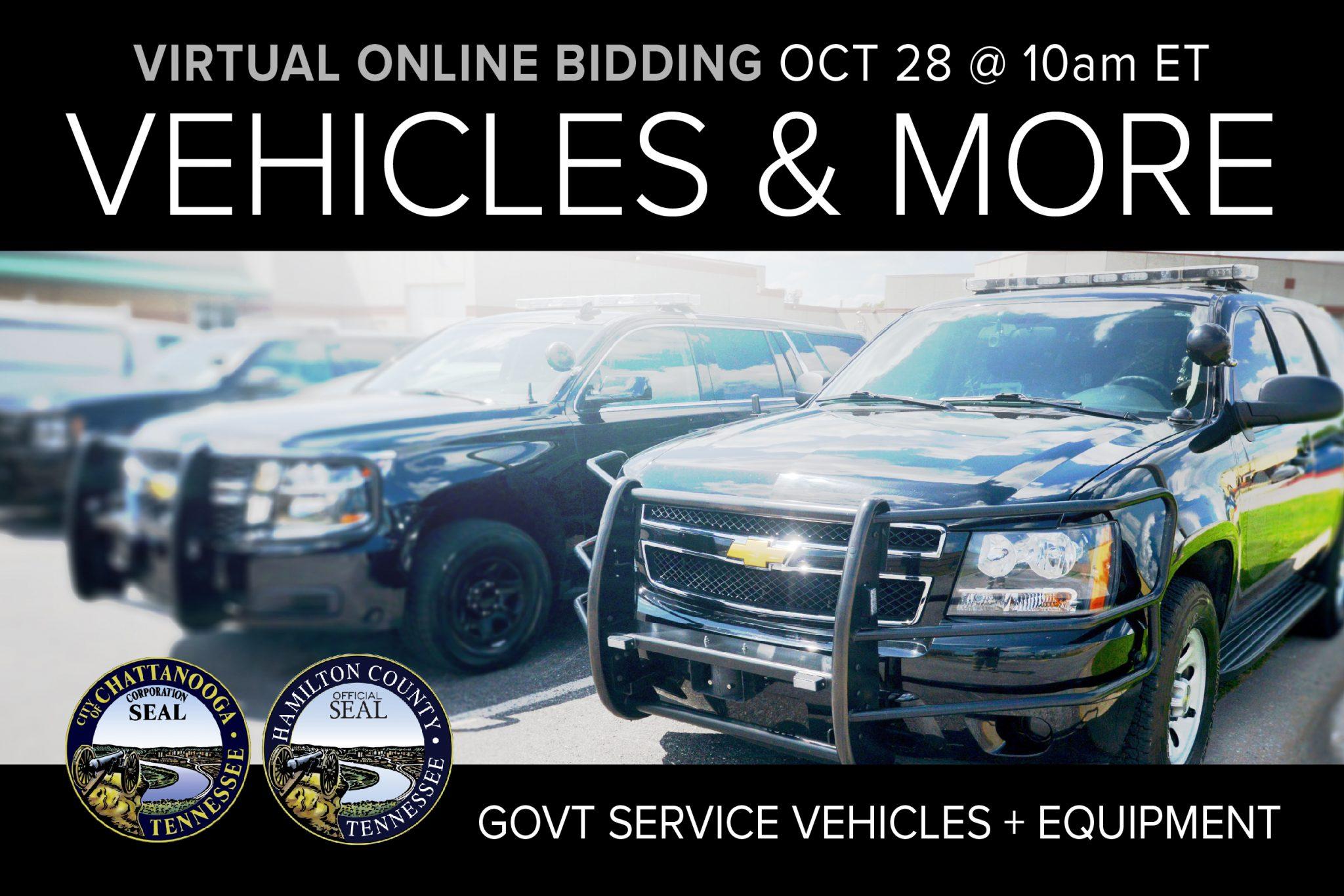 Compass October 2020 monthly public auction vehicles municipal surplus equipment tools