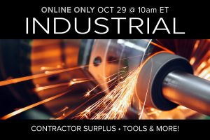 October 2020 monthly auction day 2 industrial equipment tools public auction