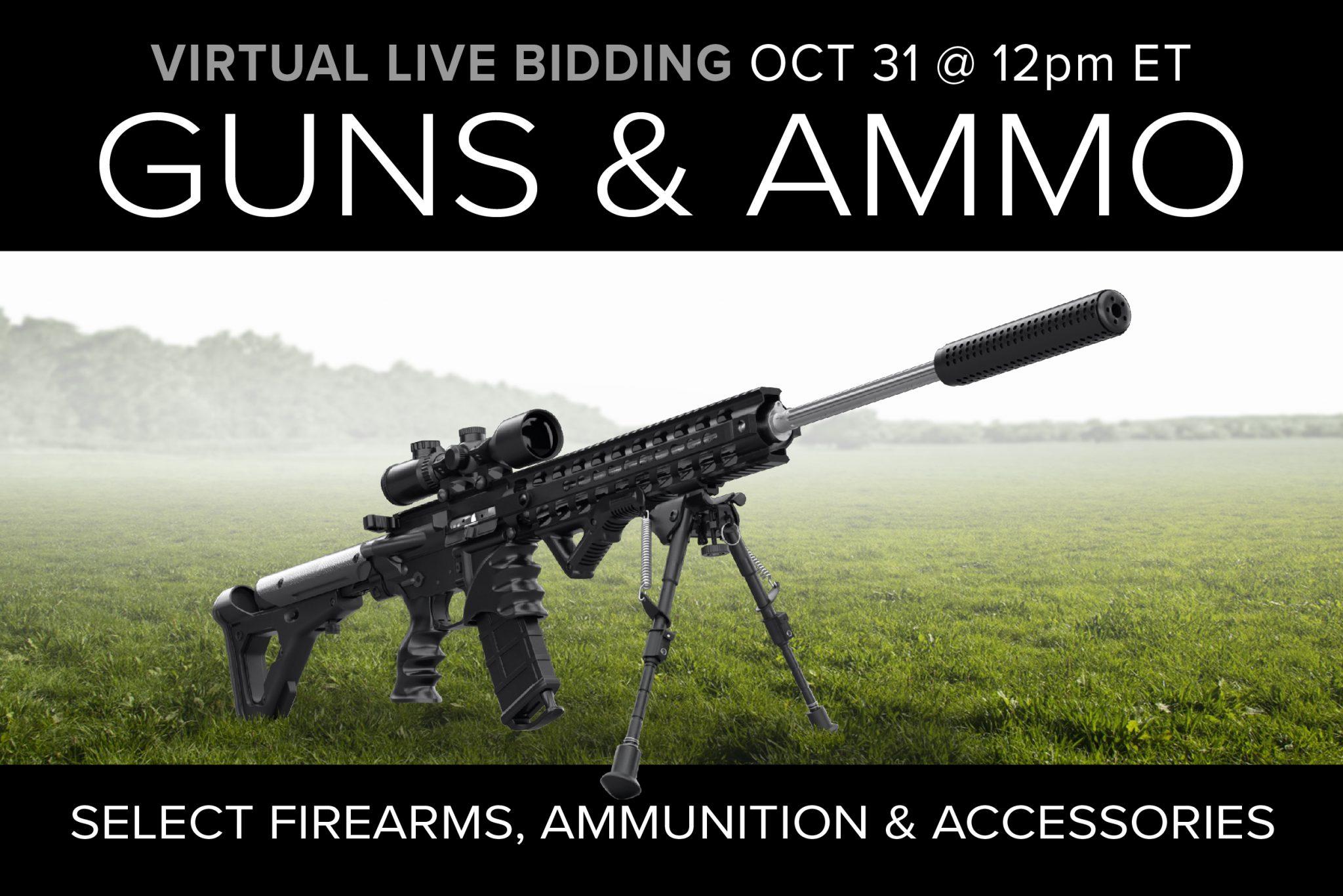 October 2020 guns ammo gear auction