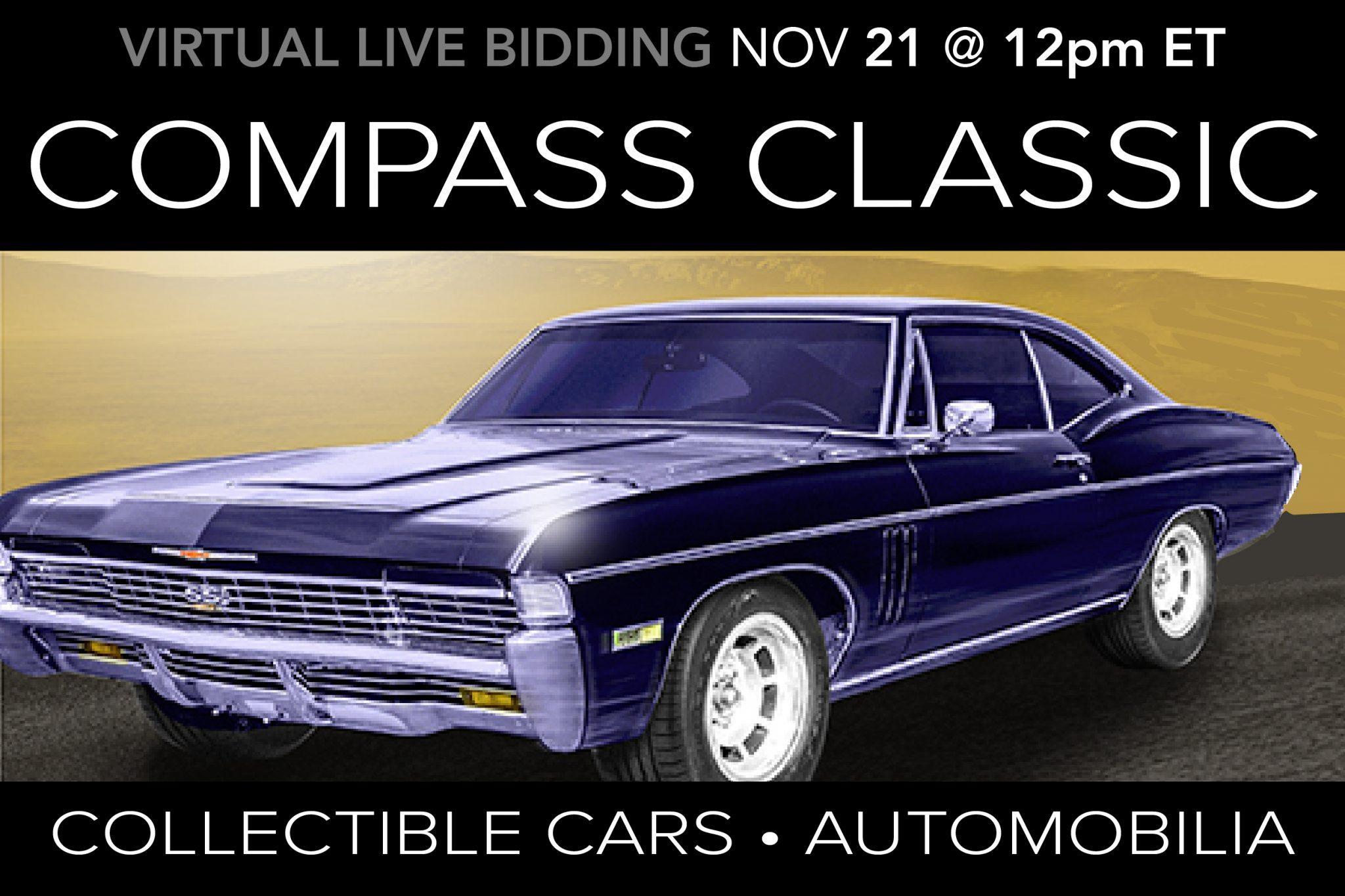 November 2020 Compass Classic Automobilia Memorabilia Cars Motorcyles