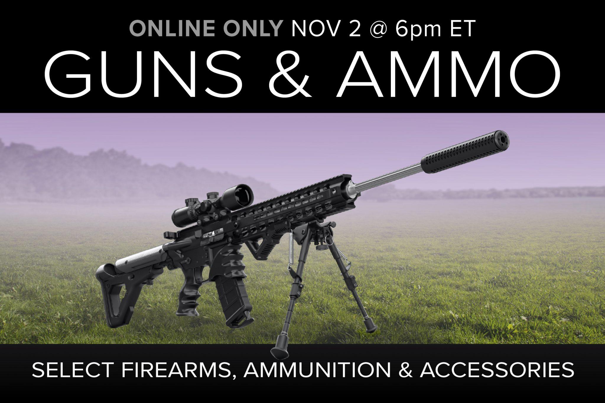 November 2020 guns ammo gear auction firearms ammunition tactical self defense accessories