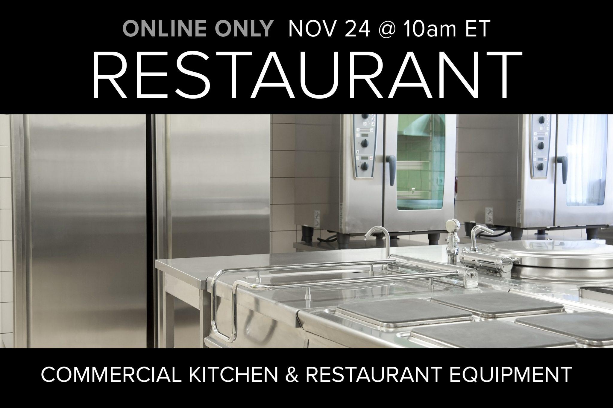 November 2020 Restaurant Equipment Kitchen Supply Auction