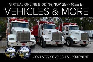 November monthly auction day 1 vehicles trucks tools job completion items municipal surplus dump trucks
