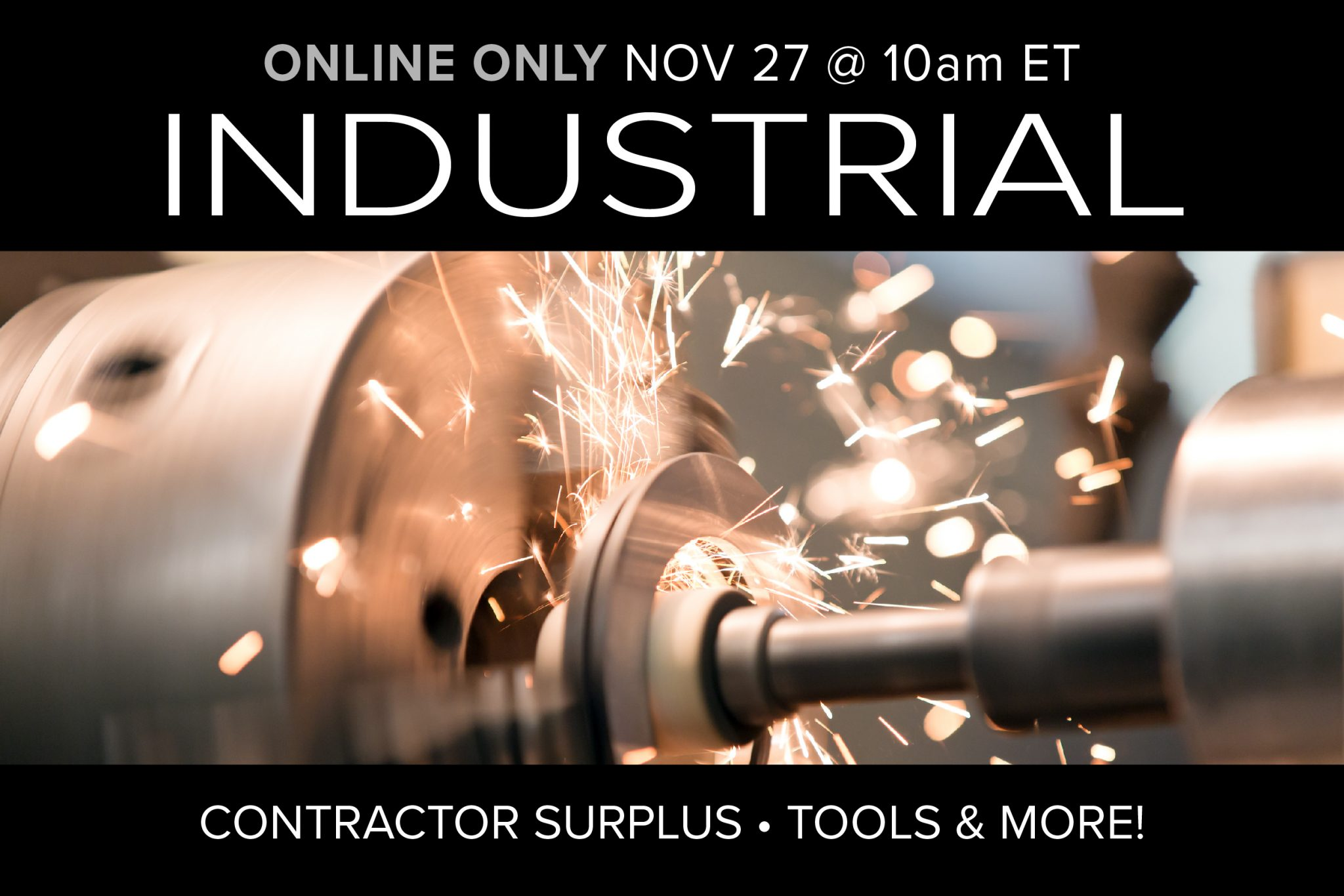 November Monthly Auction day 2 contractor grade tools home goods power tools surplus