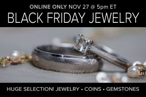 November 2020 Black Friday Jewelry Sale Auction