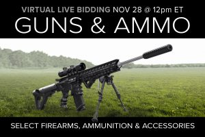 November 2020 guns ammo gear auction firearms ammunition tactical self defense