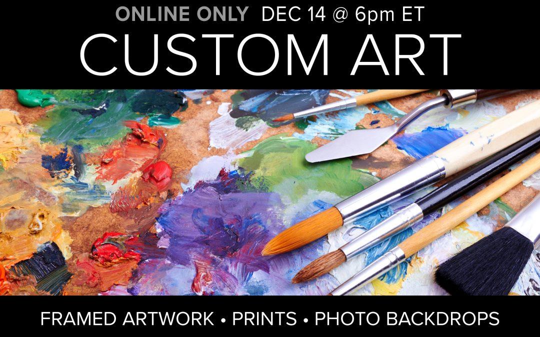 Custom Art Work & Back Drops