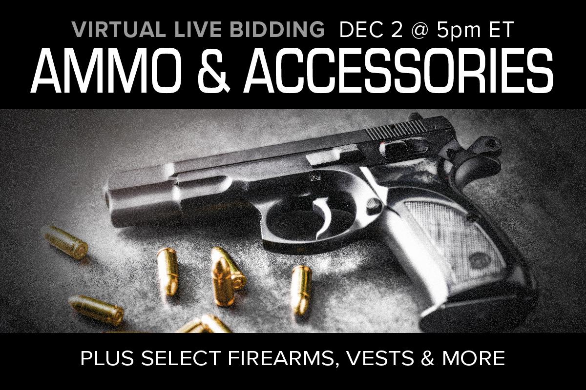 December 2020 ammunition ammo sale auction accessories Compass Auctions